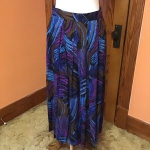 Vintage 80s bright colorful artistic long skirt